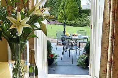 view from guest house door devon